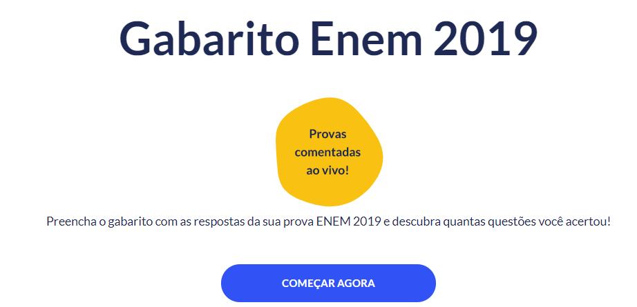 Gabarito extraoficial do Enem já está no ar