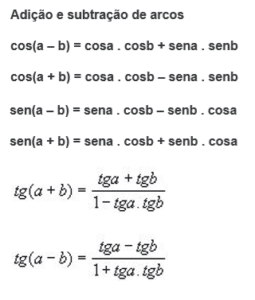 fórmulas trigonometria