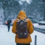 homem neve hipotermia