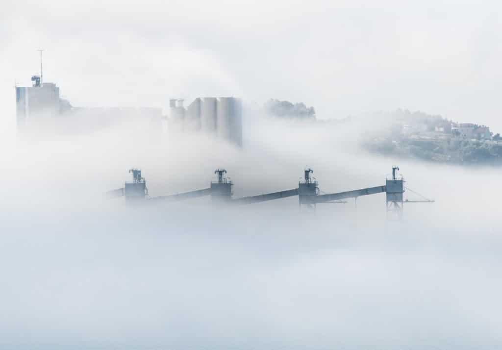 fumaça poluição do ar