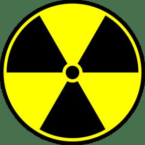 símbolo trifólio radiativo radioatividade