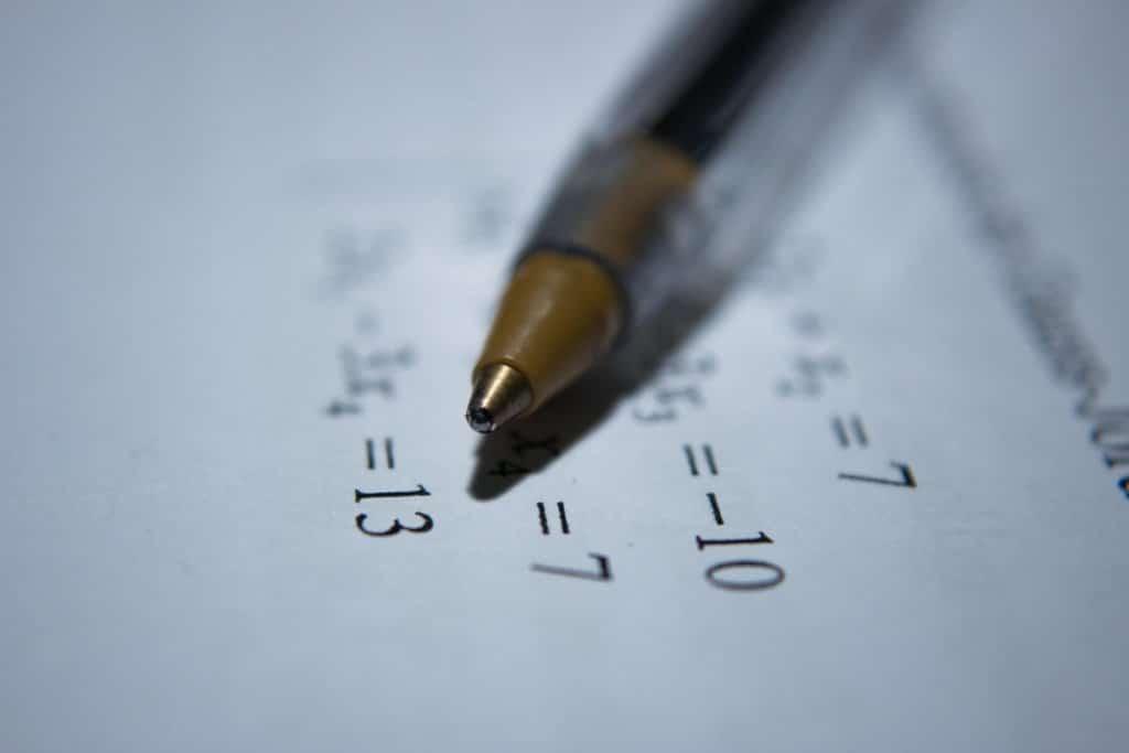 caneta regra de tres