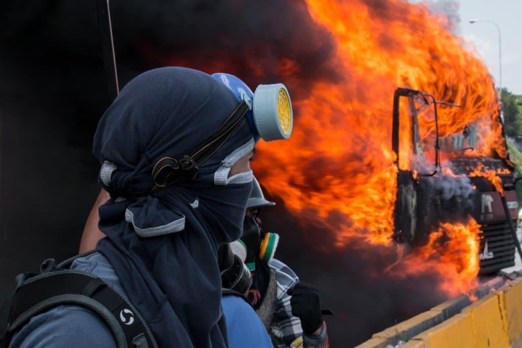 explosão crise na venezuela